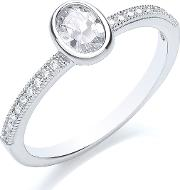 Bouton , Stacker Ring Oval, Silver