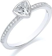 Bouton , Stacker Ring Trillion, Silver