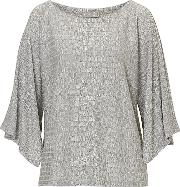 Betty & Co , . Textured Fine Knit Top, Grey