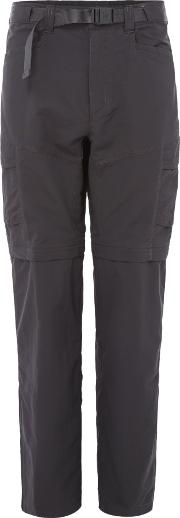 The North Face , Men's  Paramount Peak Convertible Trousers, Charcoal