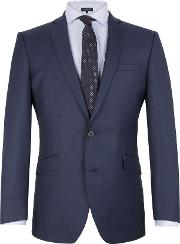 Racing Green , Men's  Notch Collar Tailored Fit Suit Jacket, Blue
