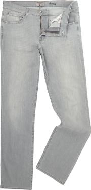 7 For All Mankind , Men's  Slimmy Jeans, Light Grey
