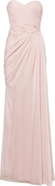 Adrianna Papell , Strapless Chiffon Gown, Taupe