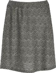 Alice & You , A Line Knitted Skirt, Black