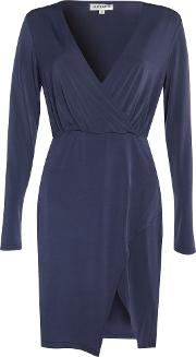 Alice & You , Wrap Front Dress, Blue