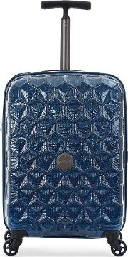 Antler , Atom Blue 4 Wheel Hard Cabin Suitcase, Blue