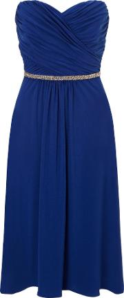 Ariella , Blue Mazie Jersey Short Dress, Blue