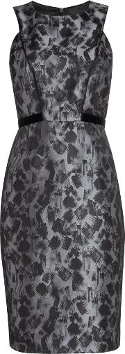 Ariella , Brush Stroke Bodycon Dress, Grey