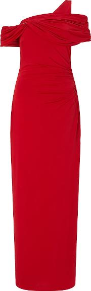 Ariella , Endra Off The Shoulder Dress, Red