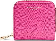 Aspinal Of London , Aspinal Of London Mini Continental Zipped Coin Purse, Raspberry