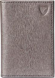 Aspinal Of London , Double Credit Card Case, Silver