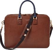 Aspinal Of London , Mount Street Briefcase Small, Brown