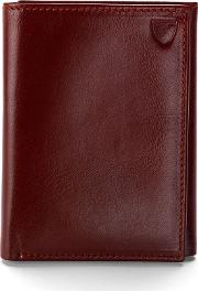 Aspinal Of London , Trifold Wallet Smooth Cognac, Cognac