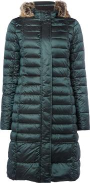 Barbour , Barbour Fortrose Long Quilted Coat, Emerald