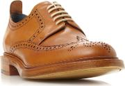 Barker , Bailey Leather Lace Up Brogues, Tan