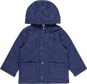 Benetton , Baby Quilted Barn Jacket, Blue