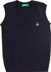 Benetton , Boys Knitted Tank Top, Blue