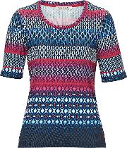 Betty Barclay , Graphic Print Top, Blue
