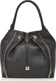 Biba , Arena Chain Trim Hobo Bag, Black