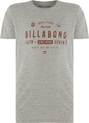 Billabong , Men's  Short Sleeve Tee Shirt, Grey