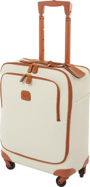 Brics , Firenze 4 Wheel Cabin Suitcase, Cream
