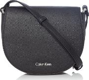 Calvin Klein , Calvin Klein Marissa Saddle Bag, Black
