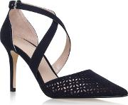 Carvela , Kross 2 High Heel Sandals, Navy