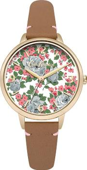 Cath Kidston , Sketched Rose Watch, Tan
