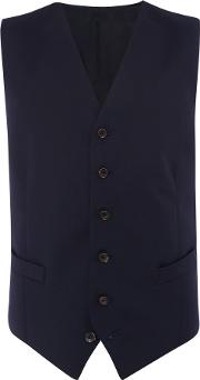Chester Barrie , Men's  Plain Tailored Fit Waistcoat, Navy