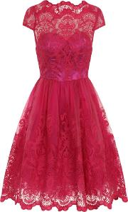 Chi Chi London , Baroque Style Tea Dress, Pink