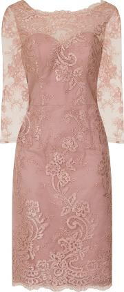 Chi Chi London , Embroidered Bodycon Dress, Pink