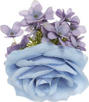 Crown And Glory , Cottage Garden Corsage Hairclip, Blue