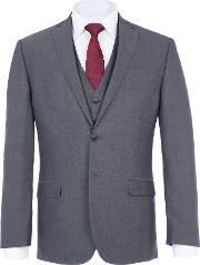 Daniel Hechter , Men's Daniel Hechter Clamart Tailored Fir Three Piece Suit, Grey