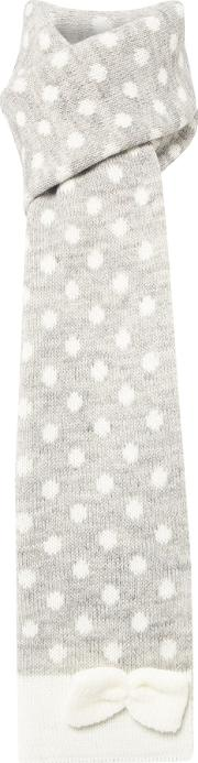 Dents , Spotted Bow Scarf, Grey