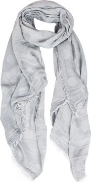Dents , Womens Fringed Two Tone Scarf, Grey