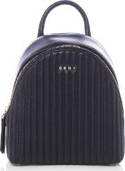 Dkny , Dkny Quilted Mini Backpack, Black