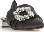 Dune , Carousel Brooch Detail Pointed Toe Mules, Black