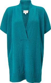 East , Wrap Over Sweater, Blue