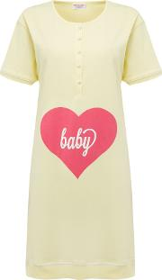 Emma Jane , Maternity Nightshirt Baby Love, Lemon