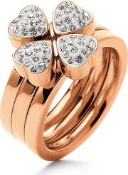 Folli Follie , Heart4heart Ring, Rose Gold