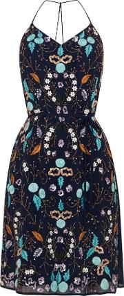 Frock And Frill , Embellished Sequin Dress, Navy