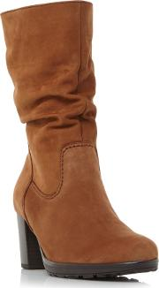 Gabor , Gabor Rotterdam Rouched High Boots, Tan