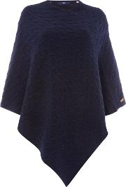 Gant , Cable Knit Poncho, Blue
