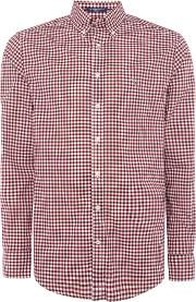 Gant , Men's  Poplin Gingham Shirt, Red