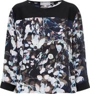 Havren , Printed Blouse, Black