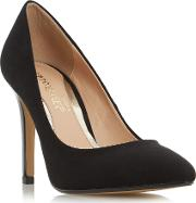 Head Over Heels , Alice Pointed Court Shoes, Black