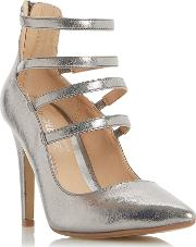 Head Over Heels , Alora Strappy Courts, Pewter