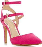 Head Over Heels , Cadi Strappy Pointed Court Shoes, Pink
