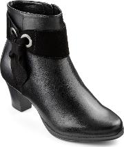 Hotter , Anastasia Ladies Heeled Ankle Boot, Black