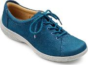 Hotter , Dew Original Extra Wide Shoes, Cobalt
